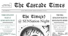 The Cascade Times... Did you had a lovely evening?