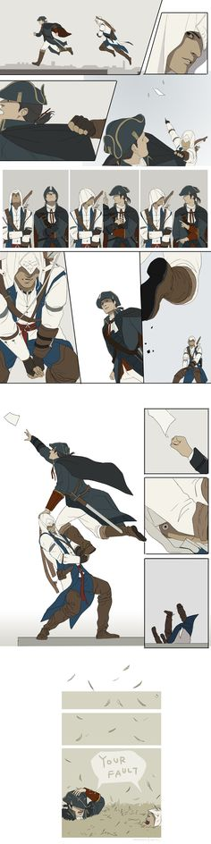 Your Fault by ~doubleleaf on deviantArt ....Haytham, Connor, you so silly....#assassinscreed