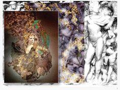 VESTA DORATA - Collage (mixed media tecnique with pictures) - 0,50 x 0,70 m - 2014