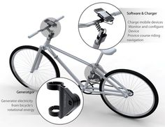 Encycle - Bicycle with a generator that charges mobile devices