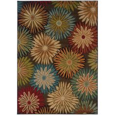 Oriental Weavers Emerson 2820A Brown/Beige Floral Area Rug