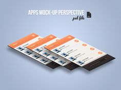 Free App Screen Mock-Up Perspective PSD - Bloom Web Design