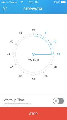 01 stopwatch freediving app design