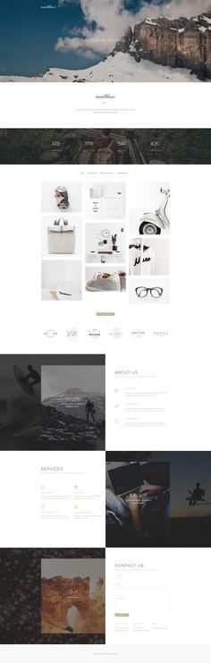 Montblanc - Minimal Creative PSD template - PSD Templates | ThemeForest