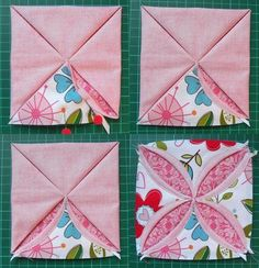 How to make a cute pincushion using a non-ironing technique for the cathedral square block