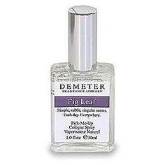 DEMETER by Demeter FIG LEAF COLOGNE SPRAY 1 OZ for UNISEX by Demeter. $20.00. Fig Leaf Perfume for Women Pick-me Up Cologne Spray 1.0 Oz / 30 Ml. We offer many great sales and discounts making this fragrance cheaper than at department stores.. Packaging for this product may vary from that shown in the image above. All our fragrances are 100% originals by their original designers. We do not sell any knockoffs or immitations.. Pick-me Up Cologne Spray 1.0 Oz / 30 Ml for Women. D...