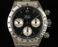 ROLEX S/S BLACK DIAL OYSTER COSMOGRAPH DAYTONA 6263 http://www.watchcentre.com/product/rolex-s-s-black-dial-oyster-cosmograph-daytona-6263/3252