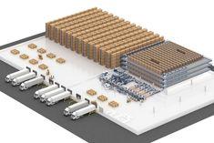 Mecalux celebrates Halloween with Deguisetoi. Warehouse Layout, Warehouse Design, Warehouse Management, Industrial Park, Racking System, Garage Tools, Factory Design, Lego Architecture, Building Design
