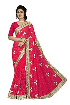Fashions Trendz Indian Women Saree Designer Party wear Wedding pink Color Sari K5571 >>> Check out the image by visiting the link-affiliate link.