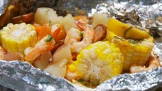 The beauty of shrimp foil packets is in their convenience. Instead of filling a huge pot with 50 pounds of potatoes and seafood, you can simply fill individual foil packets with all your favorite seafood fixings and serve straight from the packet after cooking.  Get the recipe.