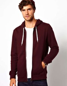 ASOS Zip-Through Hoodie | $34 | gifts for him | mens hoodie | menswear | mens fashion | mens style | wantering http://www.wantering.com/mens-clothing-item/asos-zip-through-hoodie/addOm/