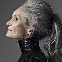 Daphne Selfe, Character inspiration for Dorothy, the tarot lady Daphne Selfe, Grey Hair Don't Care, 50 And Fabulous, Photoshoot Inspiration, Female Portrait, Character Inspiration, People, Tarot, Beautiful