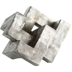 Arteriors Nyla Metal Geometric Puzzle Sculpture ($480) ❤ liked on Polyvore featuring home, home decor, fillers, decor, items, sculptures, geometric home decor, geometric sculpture, metal sculpture and metal home decor