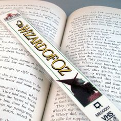 Wizard of Oz Bookmark  Recycled VHS Case  Wicked by StalkingMarla
