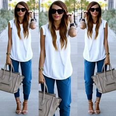 Women Sexy Fashion Summer Casual Sleeveless White Chiffon Tops Blouse shirt S-XL #unbranded #Blouse #Casual