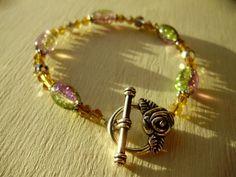 Swarovski bracelet crystal bracelet Rainbow by THWoodlandCreatures