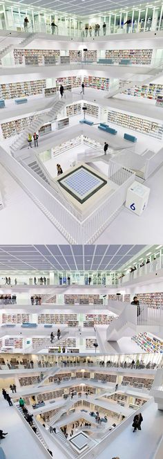 This is not a shopping mall, just an awesome library in Stuttgart, Germany.