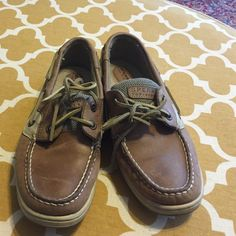 Sperry top siders Rarely wore, never without socks. See pics, sitting in closet.  Make me an offer! :) Sperry Top-Sider Shoes Flats & Loafers