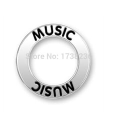 Fine design affirmation rings series music message charms musician charms