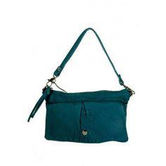 Blue Catwalk Purse Faux Leather Cocktail Wristlet Handbag Vegan Crossbody Bag
