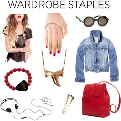 """Wardrobe Staples: The Jean Jacket"" by ahalife on Polyvore"