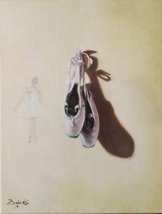 ESTUDIO DE PUNTAS, óleo sobre lienzo de 35x26 cm,