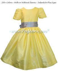 Image result for yellow flower girl dresses