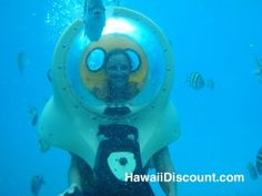 Breathing Observation Bubbles BOB - Oahu Hawaii - breathe underwater without scuba! No training needed!