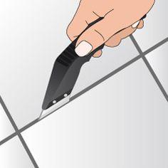 Retirez les joints de carrelage usés