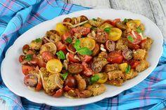 Rulada de pui cu legume - CAIETUL CU RETETE Romanian Desserts, Dessert Cake Recipes, Chicken Marsala, Kfc, Vegetable Dishes, Panna Cotta, Chicken Recipes, Deserts, Food And Drink