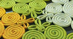 Contemporary rug / polyester / wool / patterned - NATURAL : SPIN - PAOLA LENTI