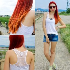red ombre Ginger Ombre, Red Ombre, Haircolor, Haircuts, Crop Tops, Beauty, Women, Fashion, Hair Color