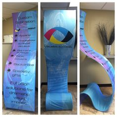 Cobra pillowcase display stand with custom printed graphics