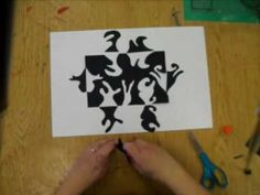 4th - 6th Grade Positive and Negative Space Design