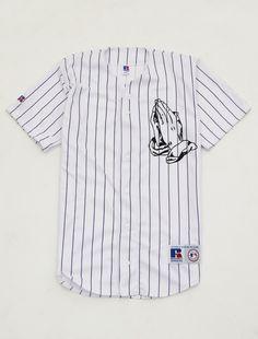 6 God baseball jersey shirt Lit Outfits, Dope Outfits, Fashion Outfits, Jersey Outfit, Jersey Shirt, Swag Style, My Style, Baseball Fashion, Praying Hands