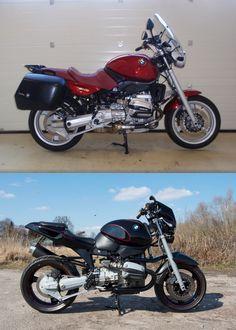 BMW R1100RS Stock/Custom comparison #1