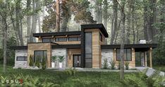 Small Contemporary House Design Architecture Ideas For 2020 Contemporary House Plans, Modern House Plans, Modern House Design, Modern House Exteriors, Dream House Exterior, Cottage Exterior, Modern Architecture House, Architecture Design, Sustainable Architecture