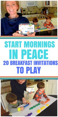 20 BREAKFAST INVITATIONS TO HELP YOUR MORNING. Super easy morning activities for your preschooler. Introduce and practice cutting, alphabet recognition, sorting, measurement, and numbers with these quick and easy preschool set-ups. Toddler Learning, Preschool Activities, Motor Activities, Creative Activities, Morning Activities, Summer Activities, Preschool Age, How To Make Breakfast, Pre School