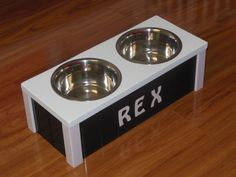 Raised Dog Bowls, Elevated Pet Feeder, Great for Small Dogs and Cats, Comes with 2 Stainless Bowls, Custom Built in the USA!