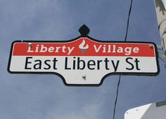 Street sign - Liberty Village, Toronto