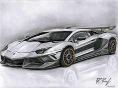 pencil drawings of cars