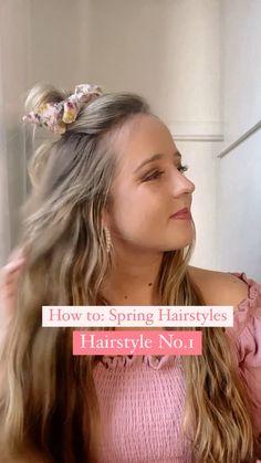 Easy Hairstyles For Medium Hair, Work Hairstyles, Curled Hairstyles, Headband Hairstyles, Summer Hairstyles, Pretty Hairstyles, Hair Inspo, Hair Inspiration, Hair Upstyles