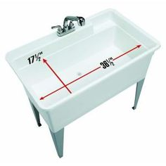 40 Quot Utility Sink For Laundry Room Perfect For Bathing Our