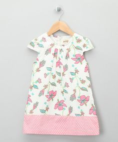 Take a look at this Ecru & Pastel Paradise Organic Dress - Toddler & Girls by Kite Kids on #zulily today!
