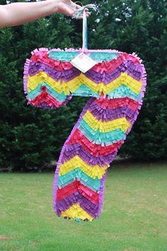 Número siete piñata piñata gran número 7 piñata por AbitaAchie