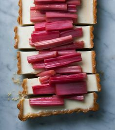 Panna Cotta & Rhubarb Tart via Herriotte Grace #rhubarb #recipe