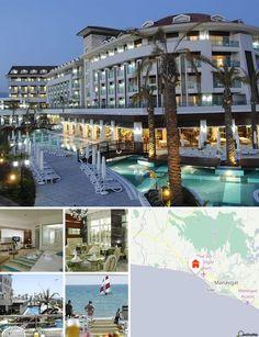 O hotel situa-se numa área tranquila, junto à praia, e a 70 km do centro da cidade de Antalya. A uma curta viagem de táxi ou transportes públicos encontra-se o centro histórico de Side, e a aproximadamente 30 minutos de automóvel as magníficas Cataratas Manavgat. Até ao aeroporto de Antalya são aproximadamente 60 km.