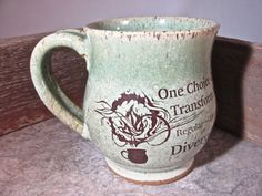 Mug   Divergent  by Blaine Atwood  item 1645 by batwoodcreations <-- gorgeous!