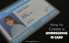 Mommy Maestra: The Benefits of a Homeschool ID Card for Parents and Students