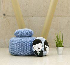 Kissen - Sitzkissen Blau XL - ein Designerstück von PAPARAJOTEFACTORY bei DaWanda